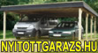 Nyitott garázsok, kocsibeállók